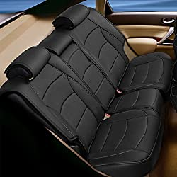 FH Group PU205013 Ultra Comfort Leatherette Bench Seat Cushion, Black Color- Fit Most Car, Truck, SUV, or Van