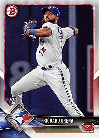 1c7928808 2018 Bowman  23 Richard Urena RC Rookie Toronto Blue Jays Baseball Card