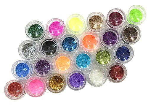 Glitter Powder Sequins for Slime ,Arts & Crafts Extra Solvent Resistant Glitter Powder Shakers,Assorted Colors glitter for slime,24 pack glitter (Diy Animal Costumes For Adults)