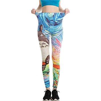 ZIJS Impresión de Dibujos Animados Pantalones de Yoga ...