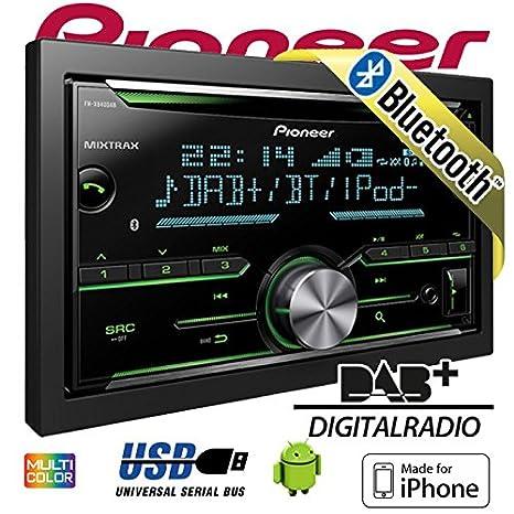 JUST SOUND best choice for caraudio Bluetooth Einbauset f/ür VW Caddy 2K CD Spotify f/ür iPhone Autoradio Pioneer FH-X840DAB 2-DIN DAB+ Digitalradio USB