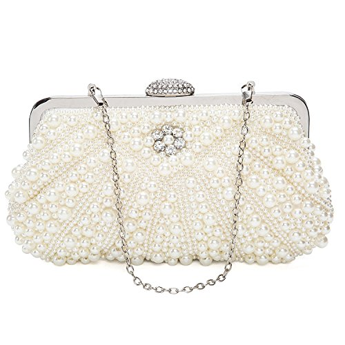 Clutch Womens LovelyPrice Bead Pearl For And Handmade Party Wedding Rhinestone Bags Evening gqdqY1w