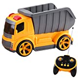 deAO RC Truck Series 5 Channel Full Functional Construction Truck Radio Control Vehicle with Sounds and Lights Beginner Level (Dumper Truck)