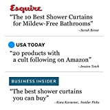 "LiBa PEVA 8G Bathroom Shower Curtain Liner, 72"" W x"
