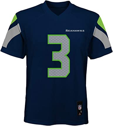 Russell Wilson Seattle Seahawks Kids 4-7 Navy Blue Home Mid-Tier Jersey