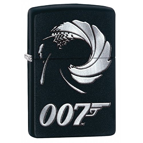 Personalized Message Engraved Customized Gift For Him For Her Celebrities Zippo Lighter Indoor Outdoor Windproof Lighter (James Bond 007) (Celebrity Gift)