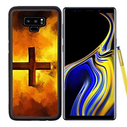 Samsung Galaxy Note9 Case Aluminum Backplate Bumper Snap Case Image ID: 8501943 Flaming Cross Christian Art Vector