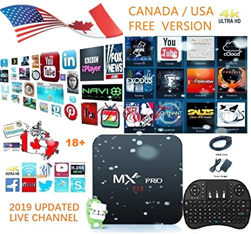 [2019 Newest Version] Latest plugin use USA Version KD 17 6 Android 7 1 MX  Pro TV Presents 4K/64Bit/3D/HD Plus Mini Keyboard