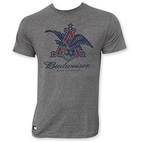 Budweiser Men's Pop Top Vintage Eagle Logo T-Shirt Large Gray ()