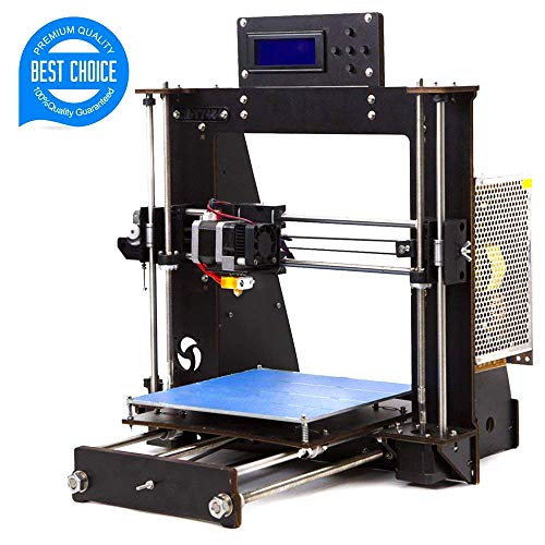 3D Printer, Trovole I3 Prusa DIY LCD Display High Accuracy Desktop 3D Printers Kit Self-Assembly Printer Machine with Free 1.75mm ABS/PLA Filament(Build Size 200×200×180mm) (I3 3D Printer)