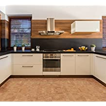 "12mm Leahter Floating Tile Floor Uniclic Cork Flooring 6""x6"" Samples"