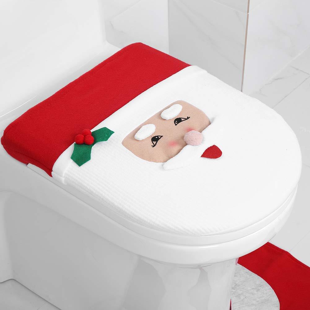 T FTVOGUE1cd8gvzer9 Bambini punta chiusa Ftvogue Babbo Natale copriwater copertura set tappetini serbatoio dell acqua coperchio e scatola del tessuto Decor Christmas bagno Covers set Sandali Adventure Seeker