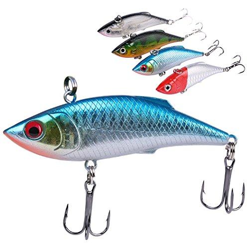 Crankbait Fishing Lures Kit Treble Hooks Tackle Bass Minnow Fishing Baits