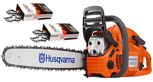 Cheap Husqvarna 460 Rancher (60cc) Cutting Kit, includes a 460 Rancher chainsaw PLUS 24″ Bar/Chain PLUS 3 Extra WoodlandPRO Chain Loops