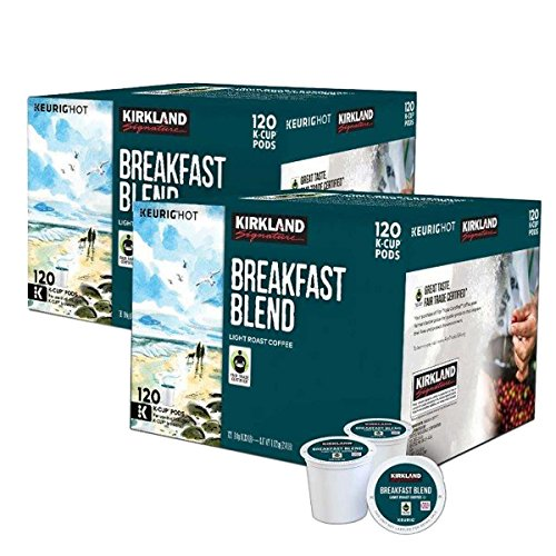 Kirkland Signature Coffee Single Serve K-Cup (Breakfast Blend, 240 K-Cups) by Kirkland Signature