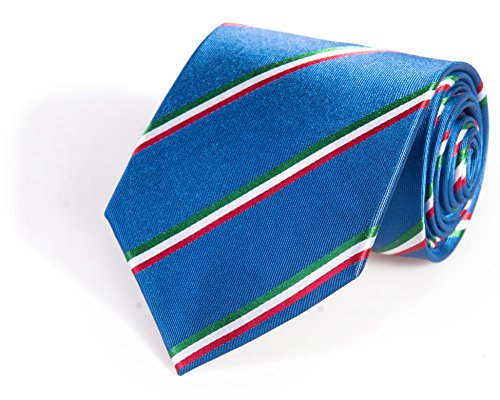 Italy Tie - Inspired by the Italian Flag. 100% Woven Silk. Italian Necktie. Italy Necktie. (Mens Ties Italian compare prices)