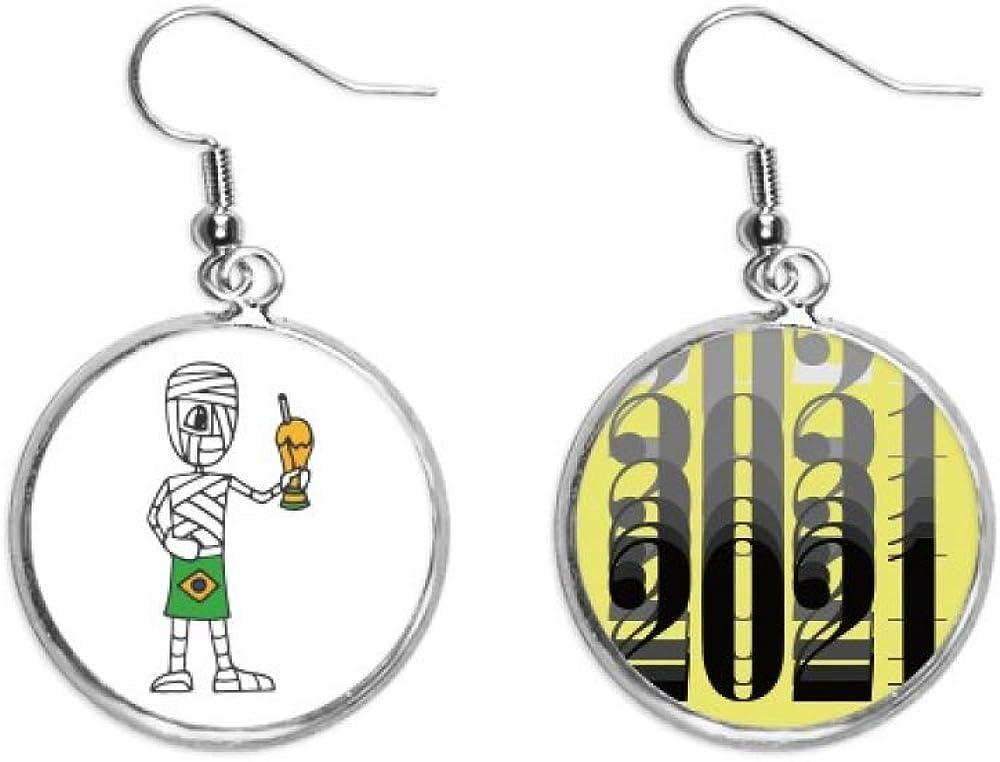 Pendientes de trofeo de fútbol de Brasil, joyería de moda 2021, regalo de año nuevo