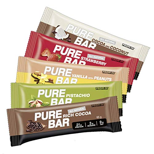 All Natural high Percentage Protein Low carb Essential Pure bar by PROM-IN (65g) (Rich cocoa)
