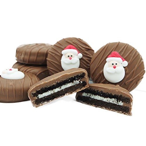 Philadelphia Candies Milk Chocolate Covered OREO Cookies, Christmas Santa Claus Gift 8 Ounce (Cookie Gifts For Christmas)