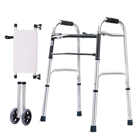Andador plegable con placa de baño para personas mayores ...