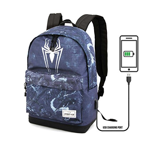 44 Daypack Spiderman HS 23 Black Casual Poison cm L Backpack Karactermania Yn1Afq1