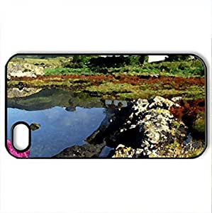 beautiful retirement home - Case Cover for iPhone 4 and 4s (Houses Series, Watercolor style, Black)