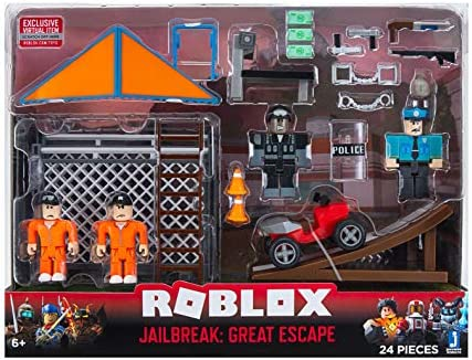 Roblox Jailbreak Museum Heist Code Robux For Free No Human Amazon Com Roblox Action Collection Jailbreak Great Escape Playset Includes Exclusive Virtual Item Toys Games