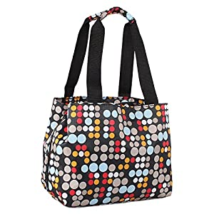 Nicole Miller of New York Insulated Lunch Cooler 11 Lunch Tote (Bangles Red)