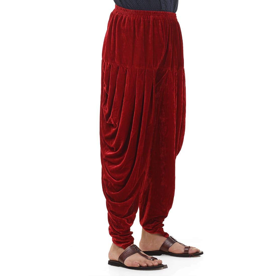 Patiala-Pants-Salwar-fuer-Maenner-Samt-elastischer-Bund-handgefertigt-laessig-Wear Indexbild 20