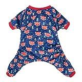 CuteBone Dog Pajamas Fox Dog Apparel Dog Jumpsuit Pet Clothes Pajamas Puppy Clothes P23L-CA