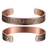 Mens Copper Bracelets Viking Pattern 99.9% Pure