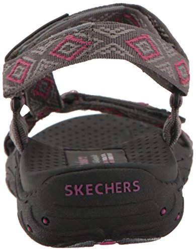 Reggae Charcoal Morning Skechers Sandal Women's Misty 8qPPxawB