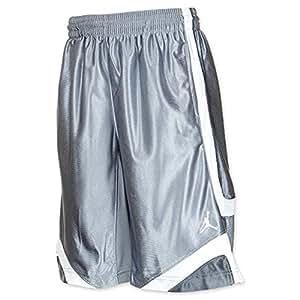 Jordan Mens Court Vision Basketball Shorts Grey