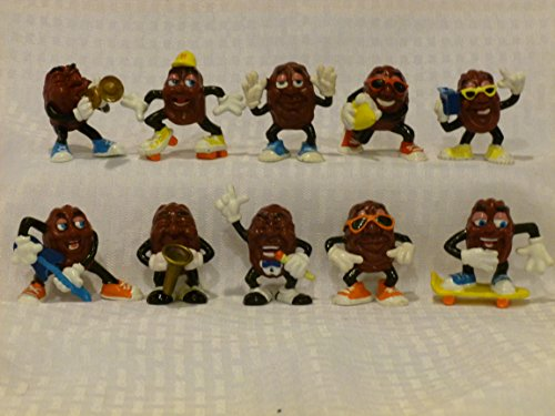 "California Raisins, Set of 10, Vintage Calrab, PVC Figurines, Collectible Good Condition, 2"" Tall"