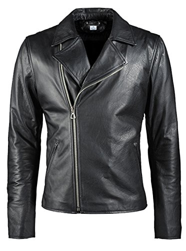 VearFit Ghost Rider Nicolas Cage Hero Black Faux Leather Biker Jacket for Men Flim Jacket