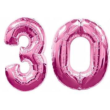 Ocballoons® - Globos de Mylar con forma de número 30 años de ...