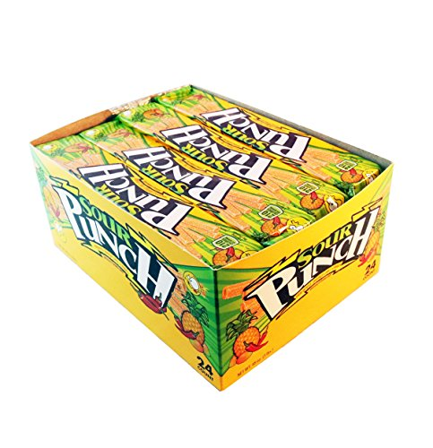 Sour Punch Pineapple Mango Chili Sour Straws, 2oz Tray (24 - Sourest Candy Most