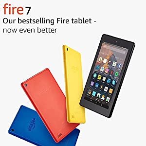 "Fire 7 Tablet with Alexa, 7"" Display, 16 GB, Black — with Special Offers"