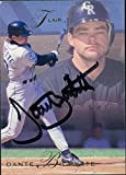 Signed Bichette, Dante (Colorado Rockies) 1993 Fleer Baseball Card autographed