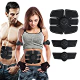 DALEMY Abdominal Toning Belt,Abs Trainer Body Muscle Toner, Waist Trimmer Belt, Abs Fit Training, Ab Belt Toning Gym Workout Machine (X5 Professional Edition(3 host 1 abdominal+2 arm paste)) For Sale