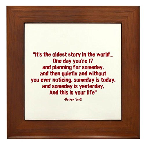 Cafepress Nathan Quote Tree Hill Framed Tile Buy Online In