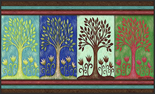 Toland Home Garden Seasons 18 x 30 Inch Decorative Floor Mat Spring Summer Fall Autumn Winter Tree Doormat