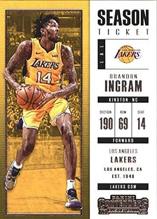 8fd47175cda 2017-18 Panini Contenders Season Ticket #83 Brandon Ingram Los Angeles  Lakers Basketball Card