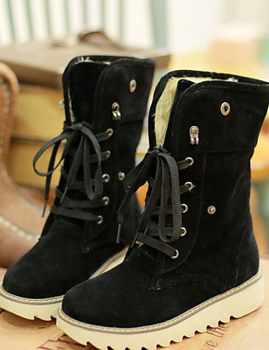 Brown Mujer us10 Zapatos 5 Uk8 Nieve Botas Black 5 Oficina exterior Tacón Uk4 Cn43 5 Xzz Trabajo us6 5 Y Eu42 7 Moda De Eu37 Equitación Seguridad A Cuña La Cn37 5 TEdRqxaxnw