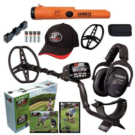 Garrett AT MAX Waterproof Metal Detector, MS-3 Wireless Headphones and Pro-Pointer AT Z-Lynk Pinpointer For Sale