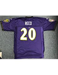 ED REED SIGNED Autographed REEBOK REPLICA Jersey Baltimore Ravens