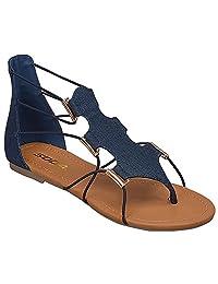 SODA Bungee Cord Girls Gladiator Sandals