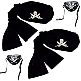: Pirate Headwrap Bandana Hat (2 Pack)