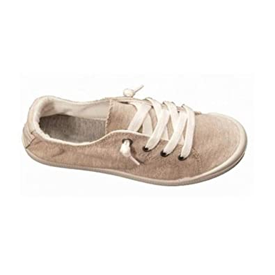 74e2536454c Hibote Ladies Canvas Shoes Womens Girls Shoes Casual Lace up Retro Plimsolls  Plimsoles Low Top Flat Gym Sports Trainers Lightweight Sneakers   Amazon.co.uk  ...