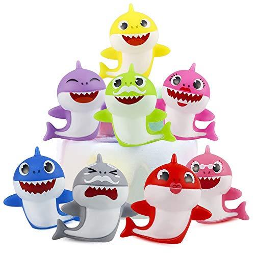 SAKOLLA 8 Pack Shark Birthday Cake Toppers - Little Shark Cake Decorations for Kids Shark Theme Birthday Party Baby Shower (Cake Decorating Tops)